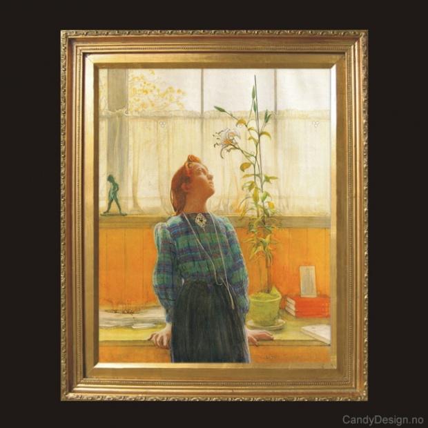 Oljemaleri  Carl Larsson maleri