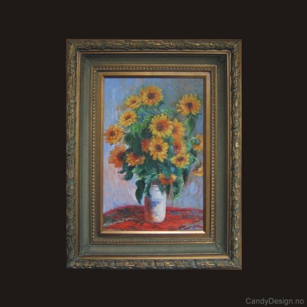 Oljemaleri  Bouquet of Sunflowers