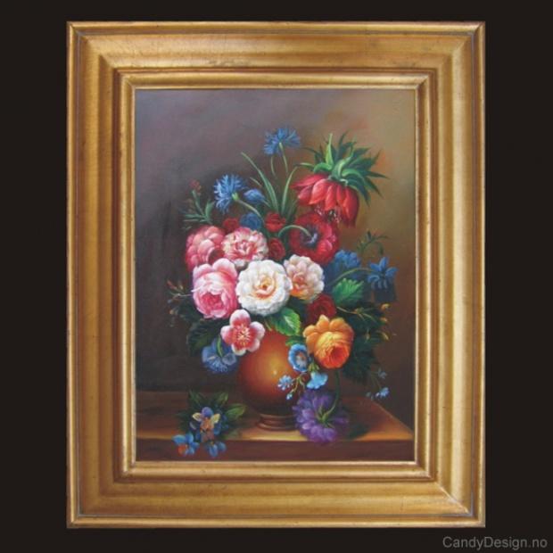 Oljemaleri  Flowers
