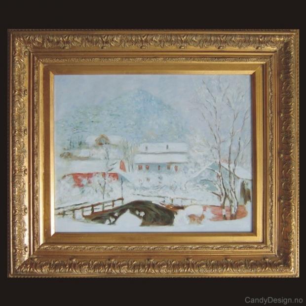 Sandviken Village in the Snow