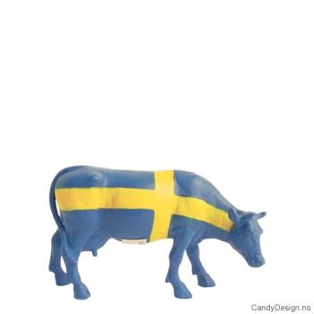 Ku suvenir med Svensk flagg