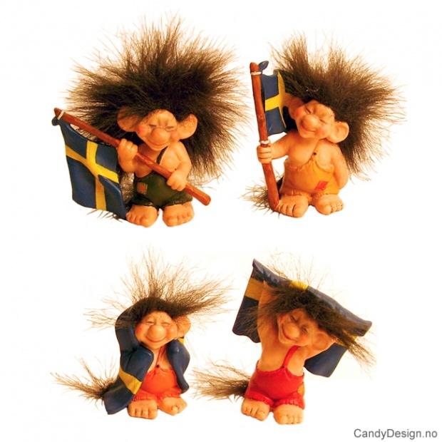 Troll med Svensk flagg