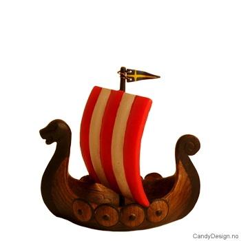 Vikingskip med Svensk flagg