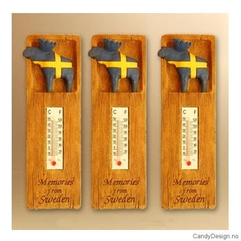 Elg på suvenir termometer med magnet