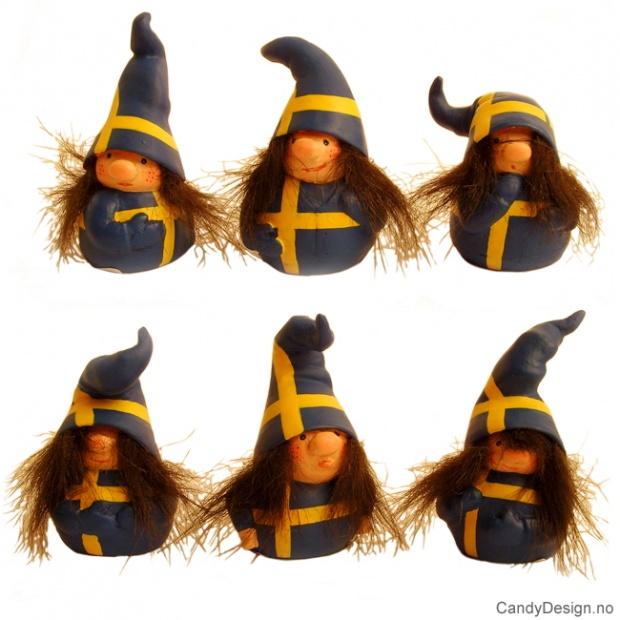 Nisser i svenske farger