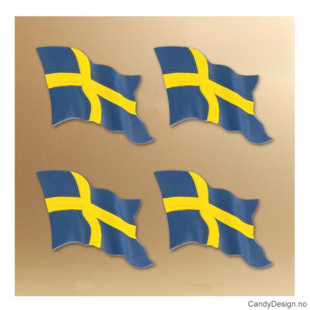Enkelt svenske flagg