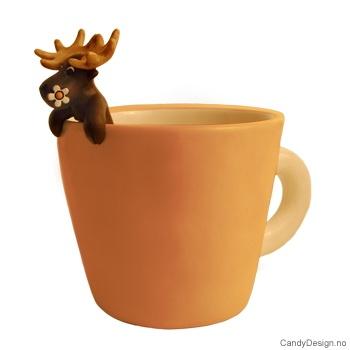 Kopp med elg brun