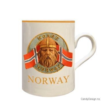 Kopp med vikingehode
