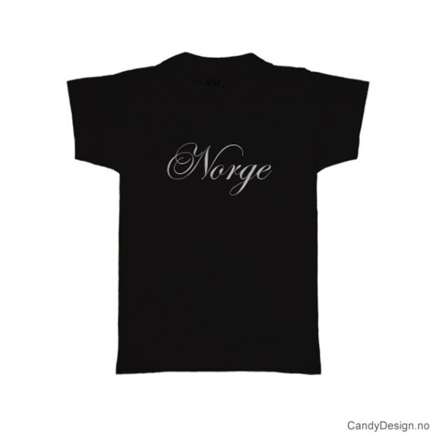 L - Men Classic T-shirt Norge black with white print