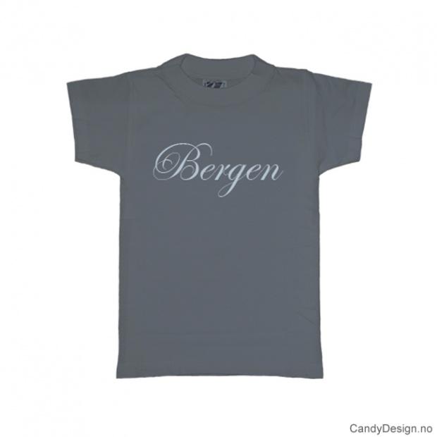XS - Ladies Classic T-shirt Bergen greyblue w/light blue print
