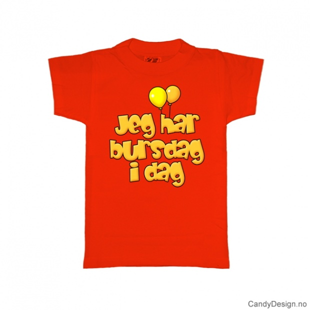 M - Dame T-skjorte - M - Jeg har bursdag i dag - rød