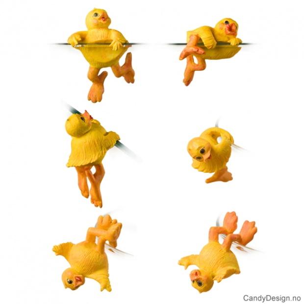 Påske kyllinger hengende assortert