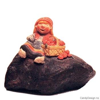 Julenisser på stein