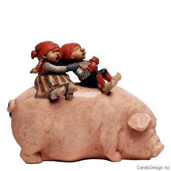 Stor nisse på gris