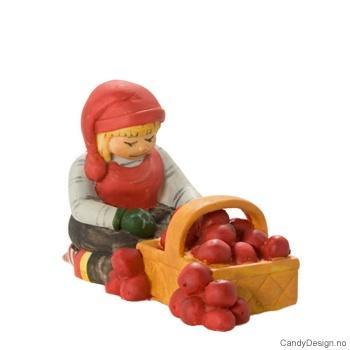 Nisse figur med epler