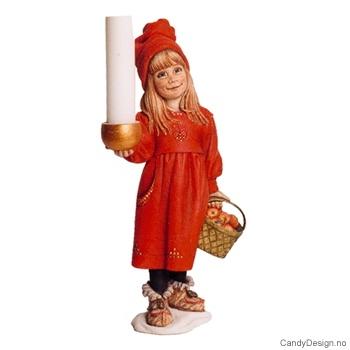 Carl Larsson jule jente med lysholder