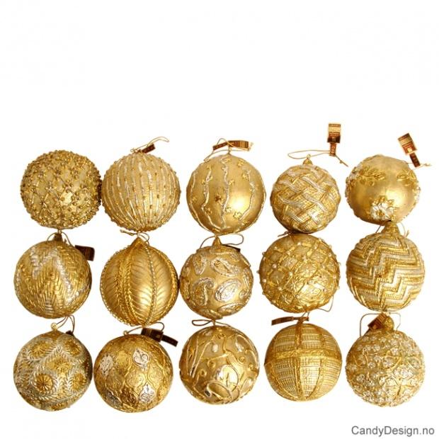 Julekuler i gull
