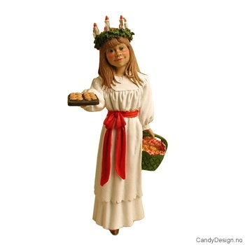 Carl Larsson Santa Lucia figur