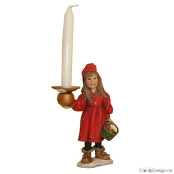 Carl Larsson julejente med lysholder