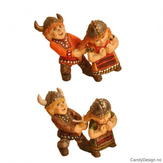 Vikingbarn med horn