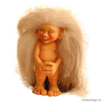 Nakne troll - Trollgutt med saueskinnshår