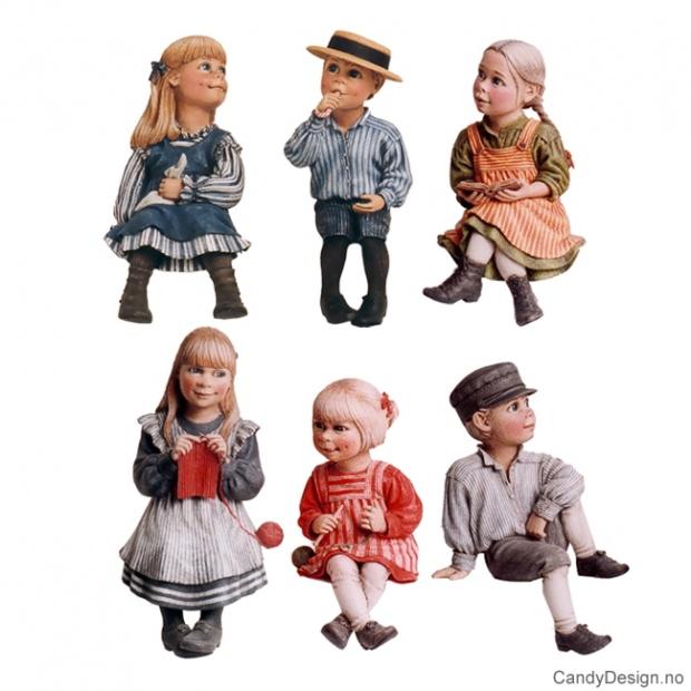 Carl Larsson barn på kant assortert