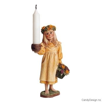 Carl Larsson barn - sommerpike i gult
