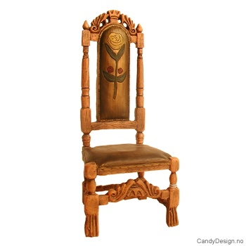 Stor gyldenlær stol