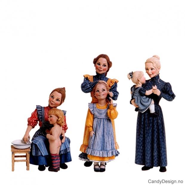 Carl Larsson - mor med barn assortert