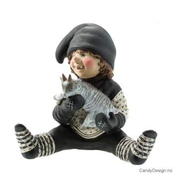 Troll med geitebukk Hvit/Sort genser