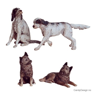Assorterte hunder for jegere