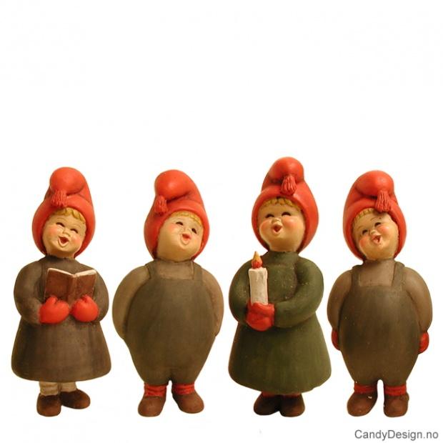 Syngende barn i grått - 4 assortert