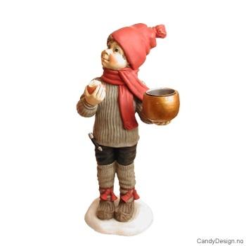 Carl Larsson gutt med lysholder
