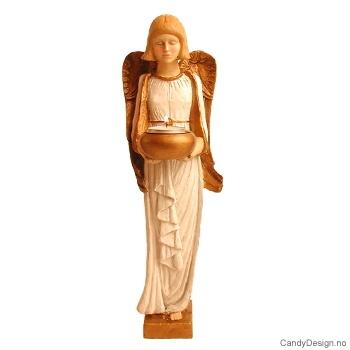 Stor engel med telys