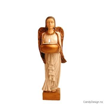 Liten engel med telys