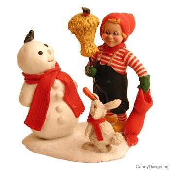 Danskenisse med snømann