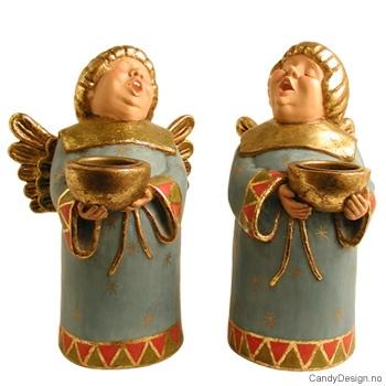 Stor munkeengel med lysholder