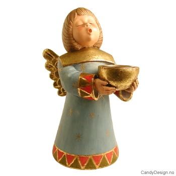 Stor engel med lysholder
