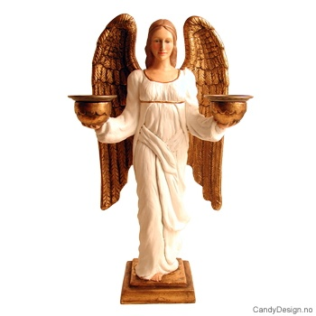 Rafaels engel lysestake - Hvit
