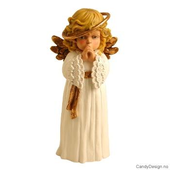 Engel med glorie rundt hode
