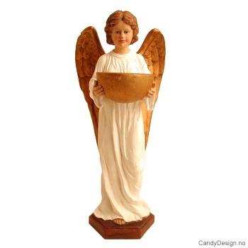 Stor stående engel med lysholder