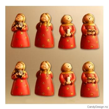 Røde engler med magnet