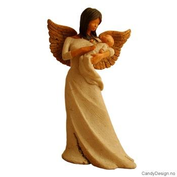 Engel med baby i armene