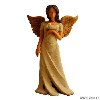 Engel med due