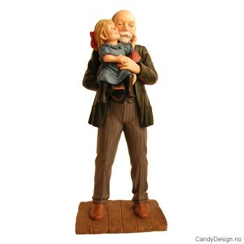 Stående Carl Larsson med datter