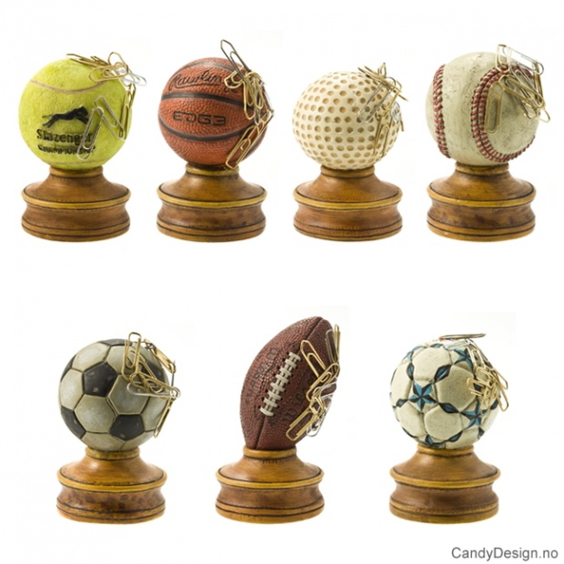 Store magnetballer med stand - Assortert