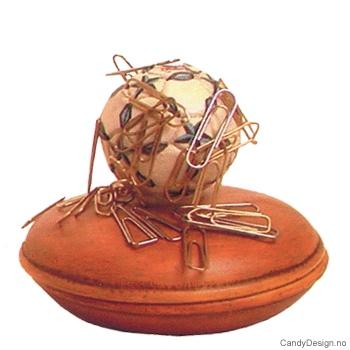 Boks med magnet og ball - Blå/Hvit Fotball