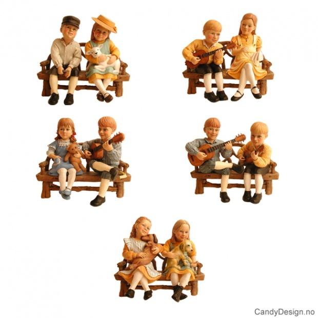Carl Larsson barne figurer assortert - uten benk