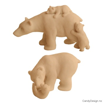 Isbjørn med barn assortert