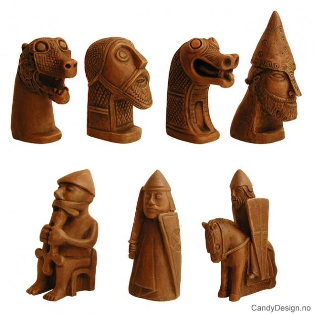 Store Vikingegudebilde suvenirer assortert